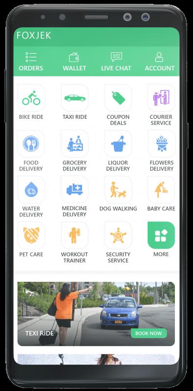 app screen - gojek clone app