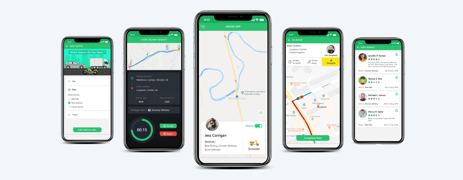 Fox-Jek Driver App